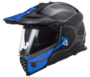 MX436 Pioneer EVO COBRA Matt Black Blue